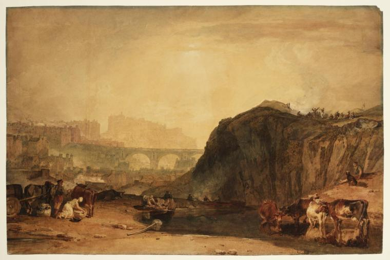 Edinburgh, from Caulton-hill exhibited 1804 by Joseph Mallord William Turner 1775-1851